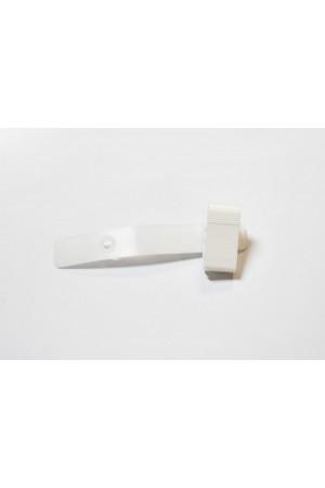 Portagafete plástico tipo broche blanco (caiman)