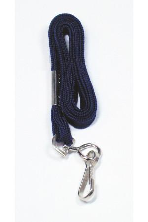 Cordón azul marino con gancho metálico para gafete
