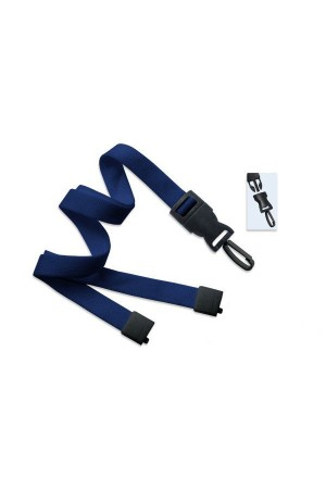 Cordón azul con gancho de plástico para gafete
