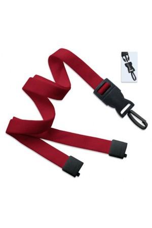 Cordón rojo con gancho de plástico para gafete