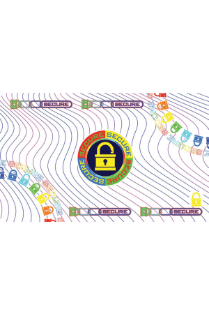 "Laminado DuraGard, Optiselect, 1.0 mil, ""Secure Locks"", Registrado, tarjeta completa 508982-003"
