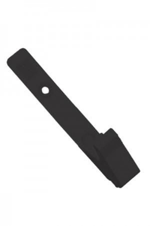 Portagafete plástico tipo broche negro (caiman)