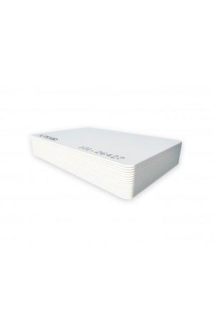 Tarjeta 125 kHz blancas ISO, 7510 programadas de fábrica, FC y Folio Impresos