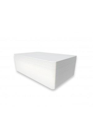 Tarjetas PVC blancas con adhesivo
