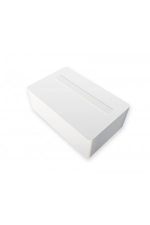 Tarjetas PVC blancas con pánel de firma posición centrada