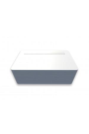 Tarjetas PVC blancas con pánel de firma posición inferior